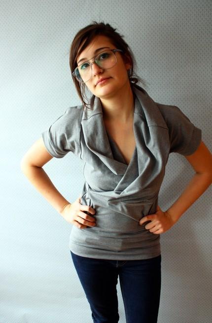 grey cowl tee tshirt replicca