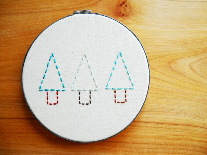 Mini Forest Embroidery Pattern What No Mints